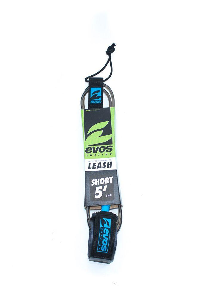 Leash Evos para Prancha de Surf Short 5 pés x 6mm Preto e Azul