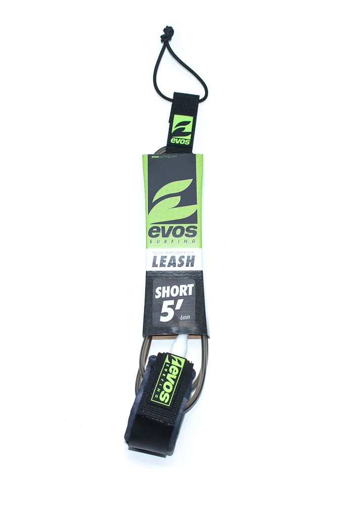 Leash Evos para Prancha de Surf Short 5 pés x 6mm - Preto e branco