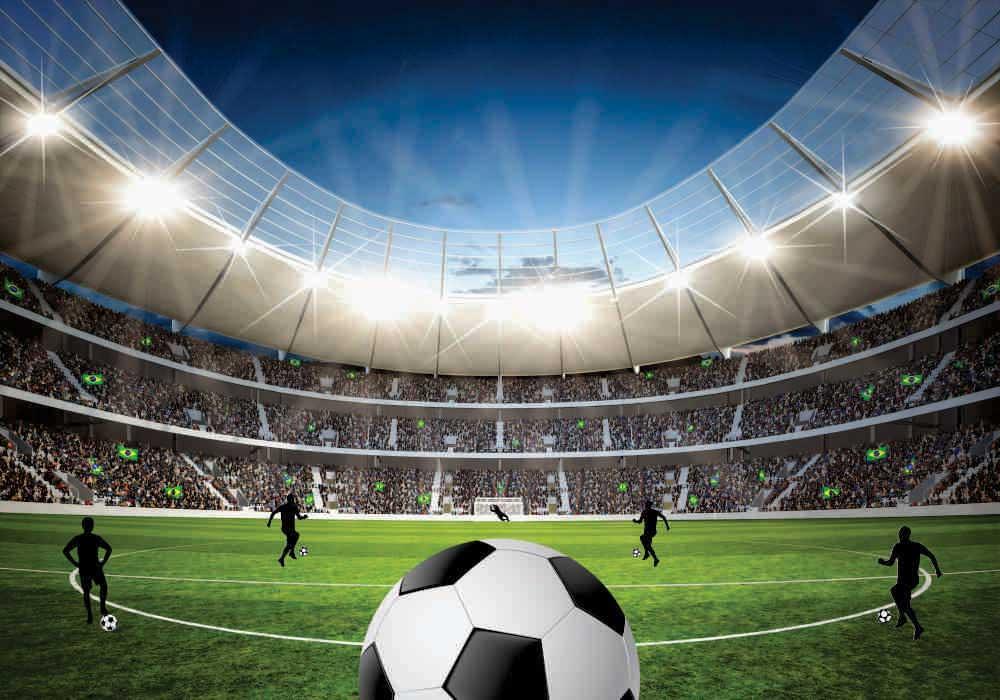 Kit decoração de Festas Futebol Com Displays E Painel Decorativo