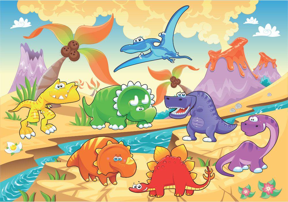 Kit festa Dinossauros Baby com painel poli banner e displays de mesa