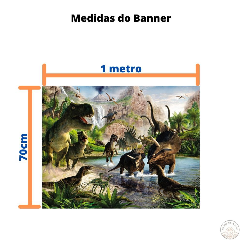 Kit festa Dinossauros painel poli banner e displays de mesa adesivados
