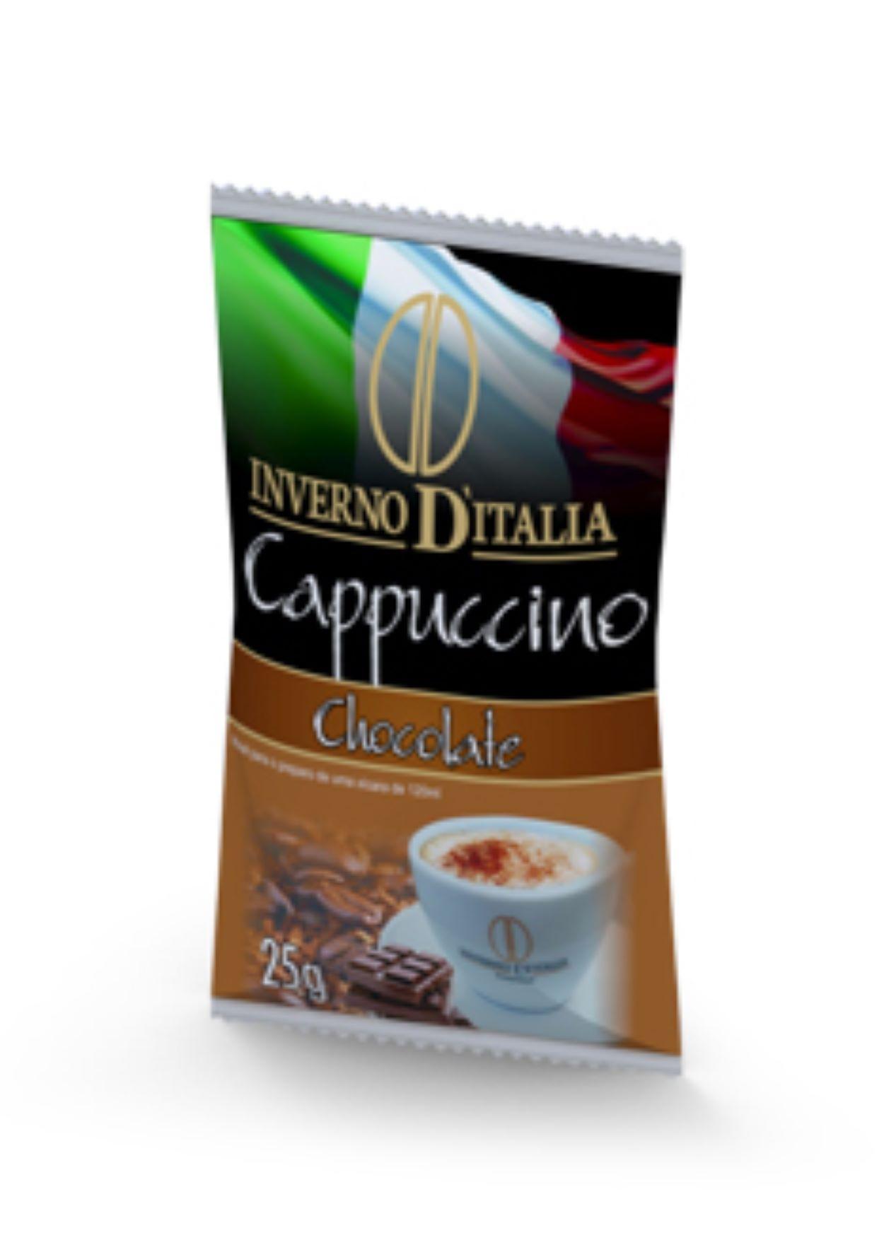 CAPPUCCINO CHOCOLATE 25 GR COM 50 SAQUINHOS