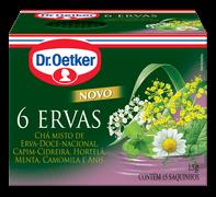 Chá 6 Ervas - Dr. Oetker Embalagem Com 15 Unidades