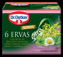 Chá 6 Ervas Dr. Oetker Embalagem Com 15 Unidades