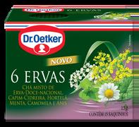 Chá 6 Ervas Dr. Oetker Kit Com 4 Unidades
