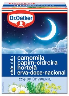 Chá Camomila, Cidreira&erva Doce- Dr.oetker Emb.15 Saquinhos