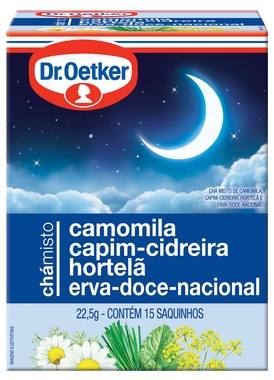 Chá Camomila, Cidreira&erva Doce - Dr. Oetker Kit C/4 Caixas