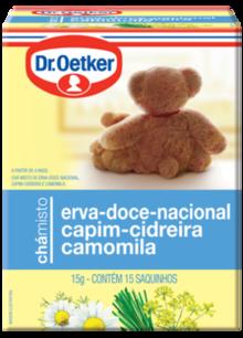 Chá Camomila, Cidreira & Erva Doce Dr. Oetker Kit com 2 Caixas