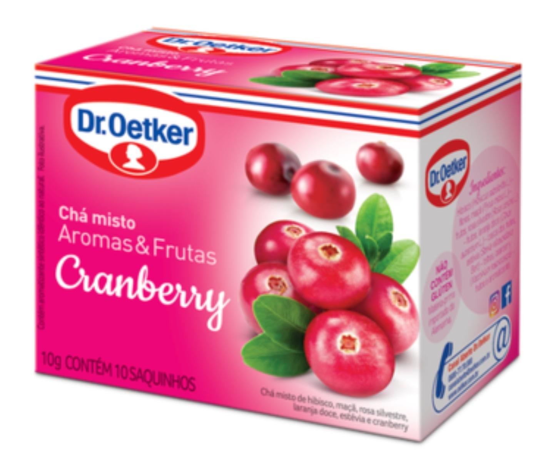 CHÁ CRANBERRY - KIT 02 CAIXAS DR OETKER