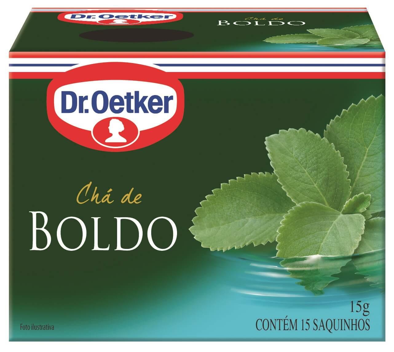 CHÁ DE BOLDO  - DR. OETKER - KIT COM 4 CAIXAS