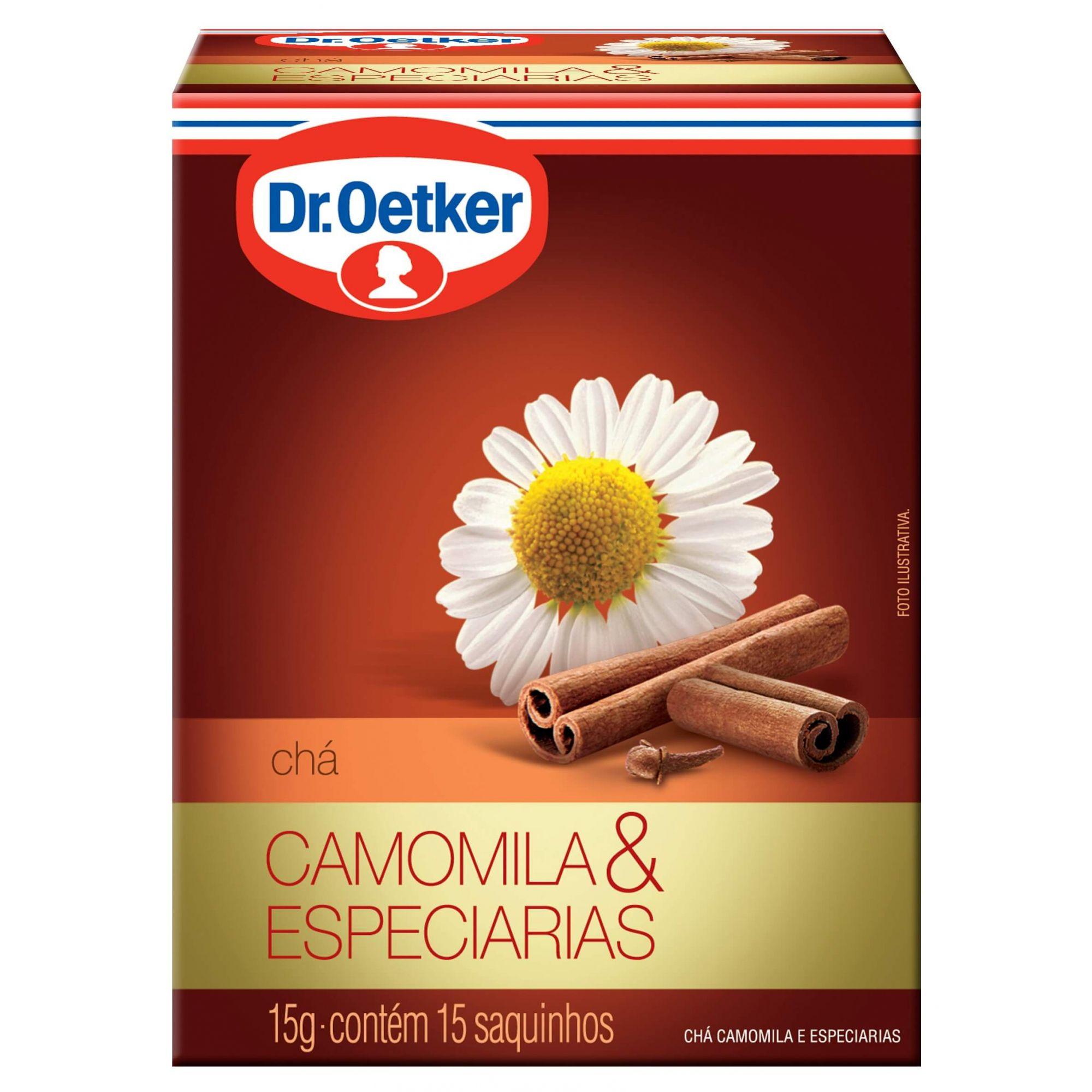 CHÁ DE CAMOMILA COM ESPECIARIAS - DR. OETKER -  KIT COM 4 CAIXAS