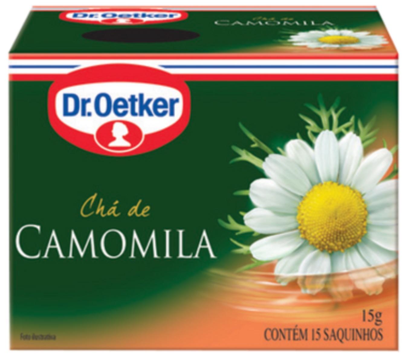 CHÁ DE CAMOMILA DR. OETKER KIT COM 4 CAIXAS