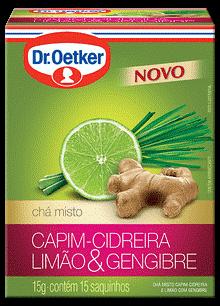 CHÁ DE CAPIM-CIDREIRA, LIMÃO E GENGIBRE - DR. OETKER -  KIT COM 2 CAIXAS