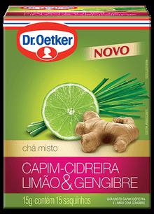 CHÁ DE CAPIM-CIDREIRA, LIMÃO E GENGIBRE - DR. OETKER -  KIT COM 4 CAIXAS
