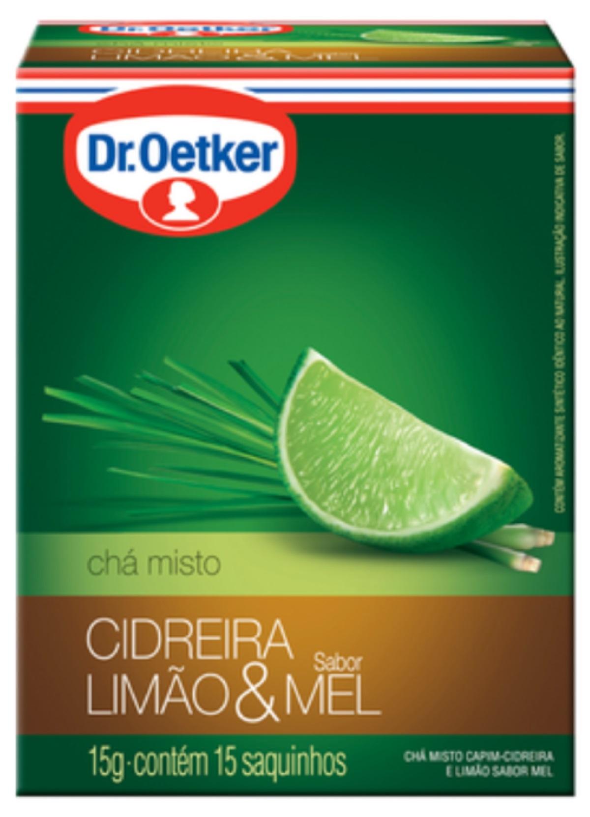 CHÁ DE ERVA CIDREIRA LIMÃO E MEL DR. OETKER KIT com 4 unidades