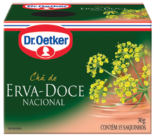 CHÁ DE ERVA DOCE DR. OETKER KIT COM 2 CAIXAS