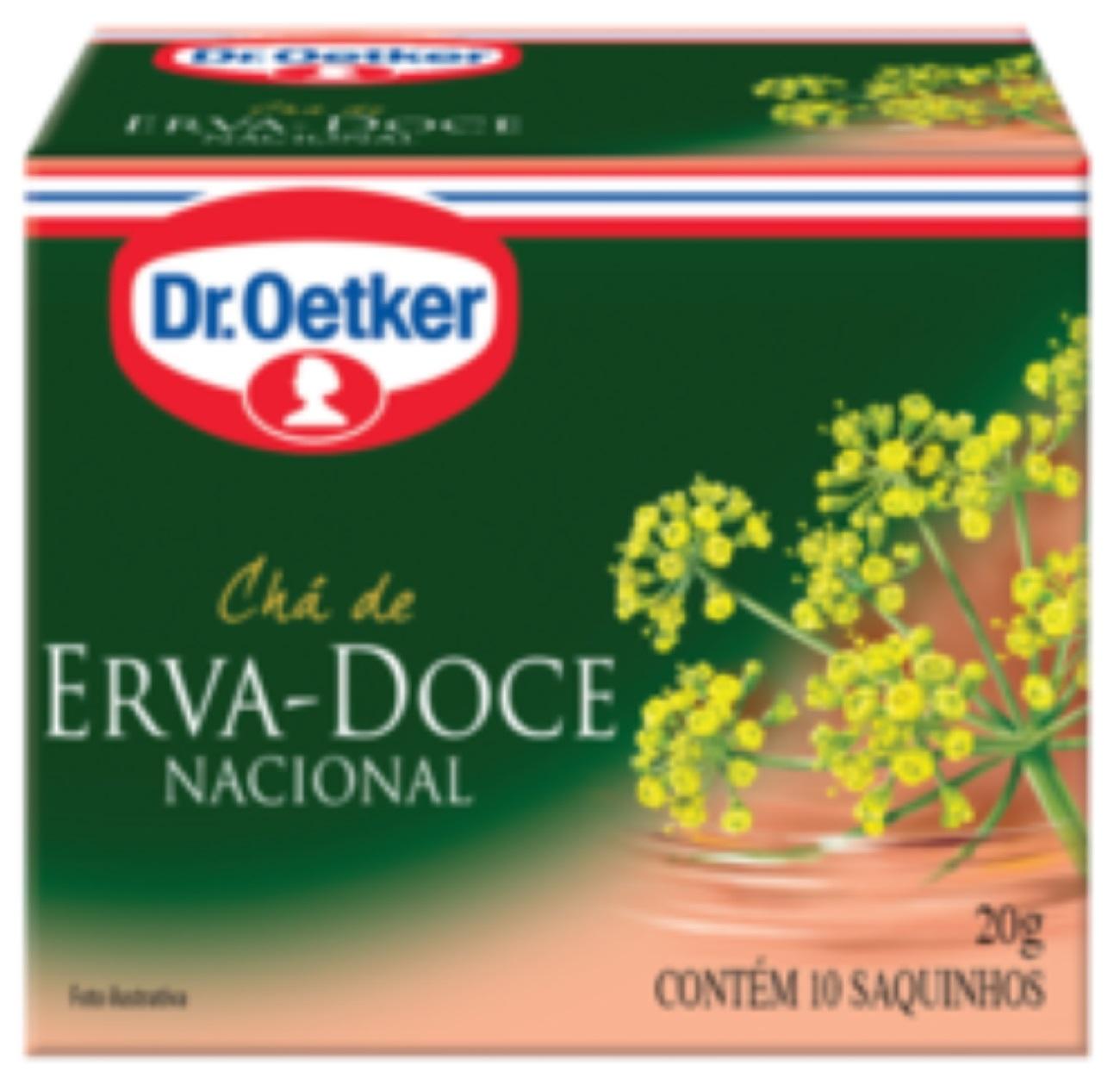 CHÁ DE ERVA DOCE DR. OETKER KIT COM 4 CAIXAS.