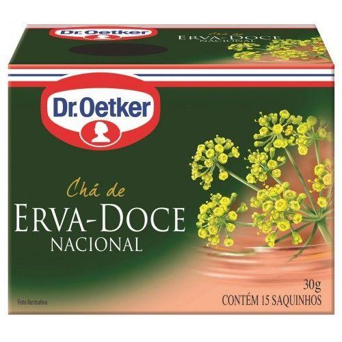 CHÁ DE ERVA DOCE - DR. OETKER -  KIT COM 4 CAIXAS