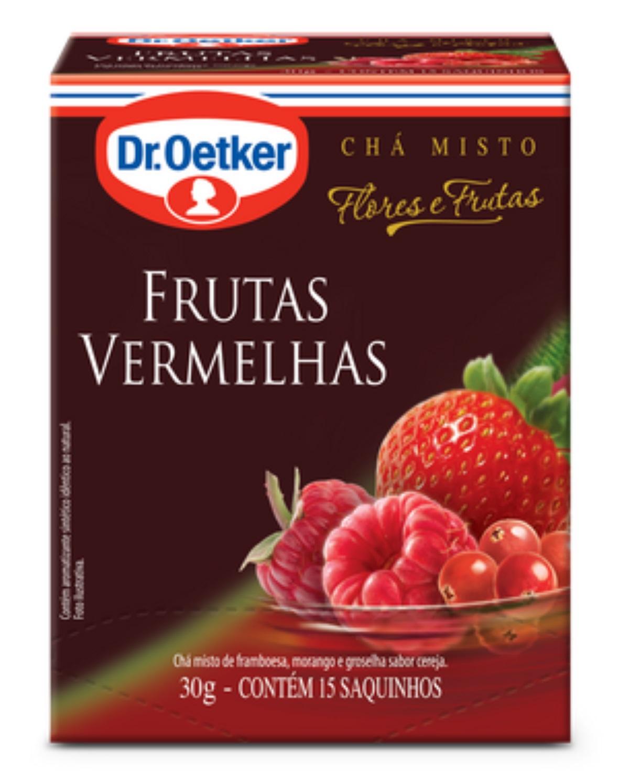 CHÁ DE FRUTAS VERMELHAS KIT COM 04 CAIXAS -DR. OETKER