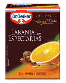 CHÁ DE LARANJA COM ESPECIARIAS DR. OETKER KIT COM 2 CAIXAS