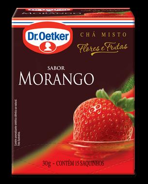 CHÁ DE MORANGO - DR. OETKER -  KIT COM 4 CAIXAS