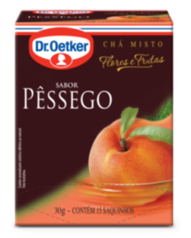 CHÁ DE PÊSSEGO DR. OETKER KIT COM 4 CAIXAS