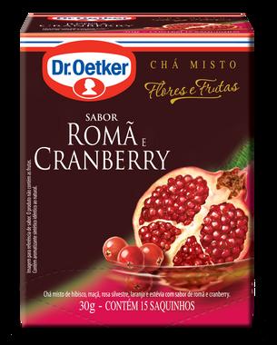 CHÁ DE ROMÃ E CRAMBERRY DR. OETKER