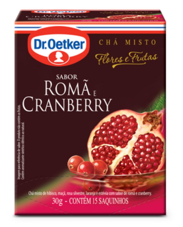 CHÁ DE ROMÃ E CRANBERRY DR. OETKER KIT COM 4 CAIXAS