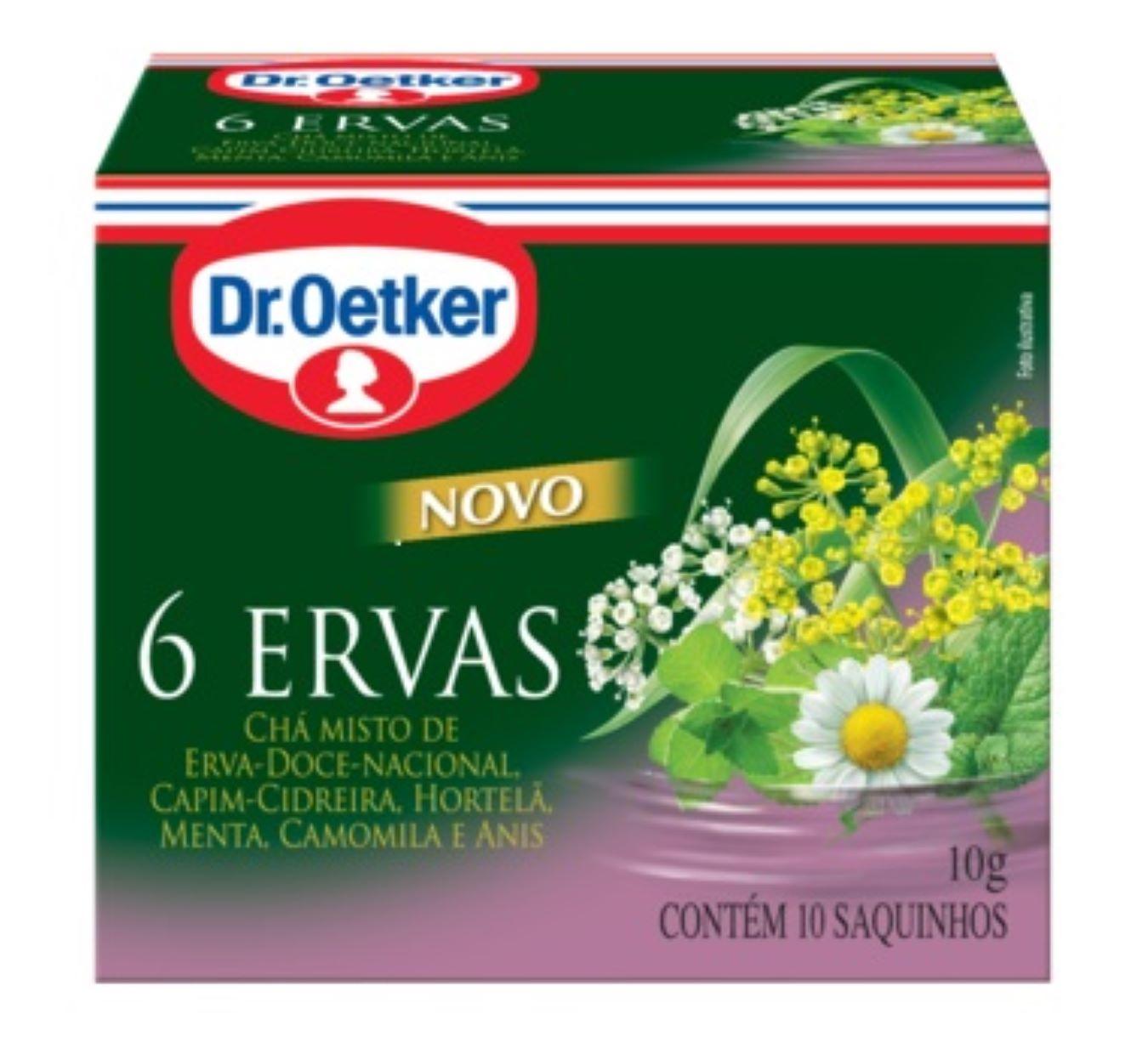CHÁ DE SEIS ERVAS DR. OETKER KIT COM 02 CAIXAS.