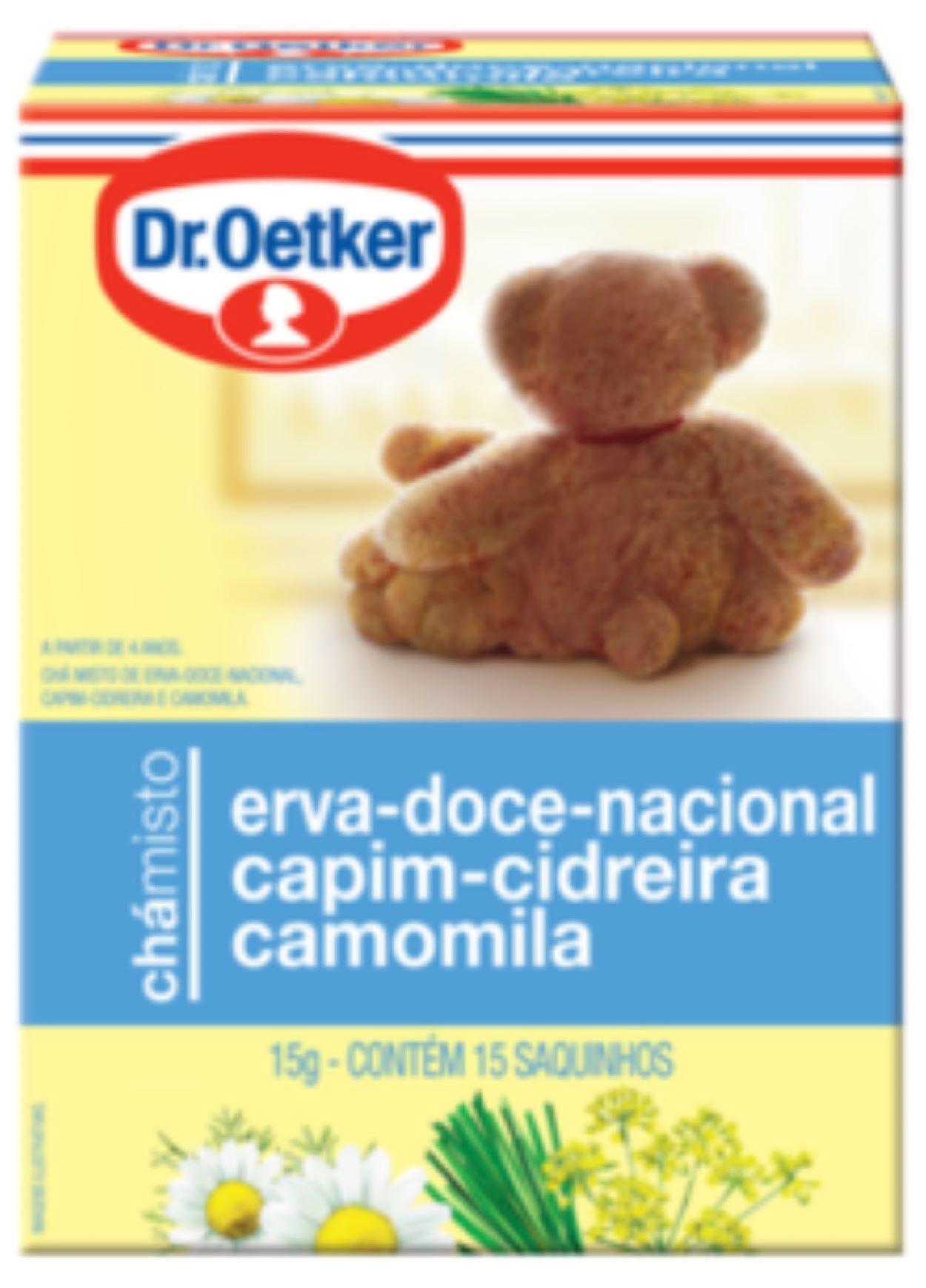 Chá Erva Doce, Cidreira e Camomila Dr. Oetker Kit com 4 Caixas