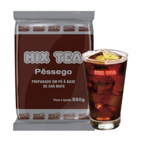 CHÁ GELADO - MIX TEA PESSEGO -  KIT C/ 10 PCTES  DE 550 GR.