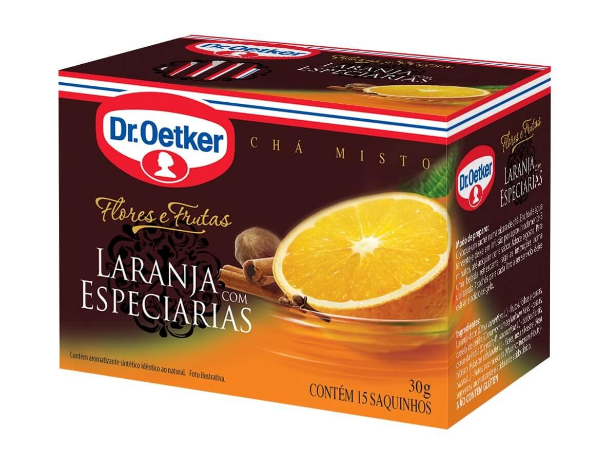 Chá Maçã e canela, Laranja e Especiarias - Dr. Oetker Kit C/2 Caixas de cada sabor