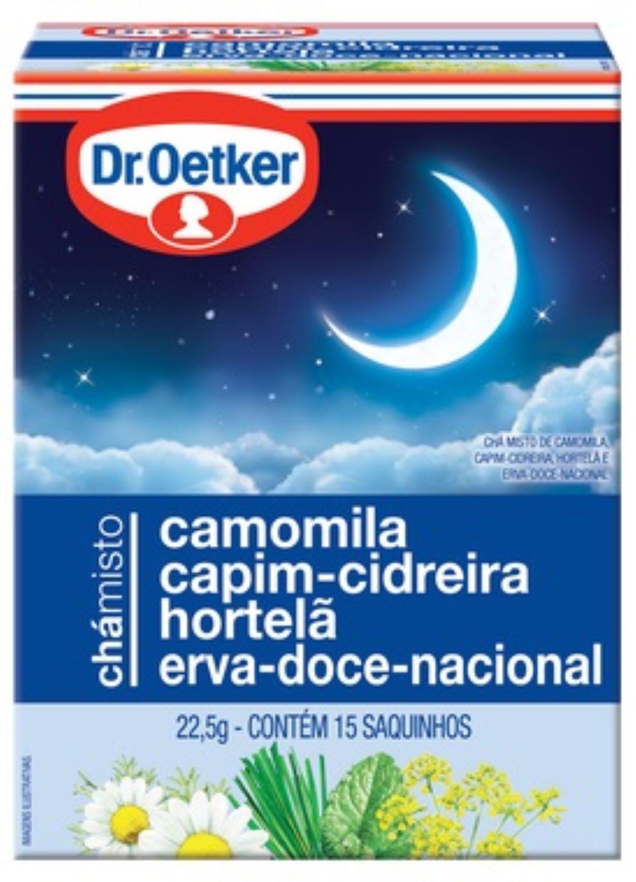 CHÁ MISTO- CAMOMILA, CAPIM CIDREIRA, HORTELÃ E ERVA DOCE NACIONAL -DR OETKER