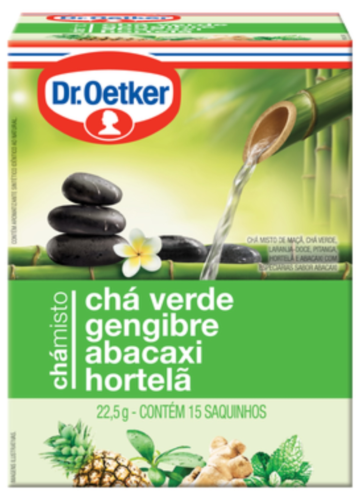 Chá Misto Verde, Gengibre, Abacaxi e Hortelã kit 02 caixas