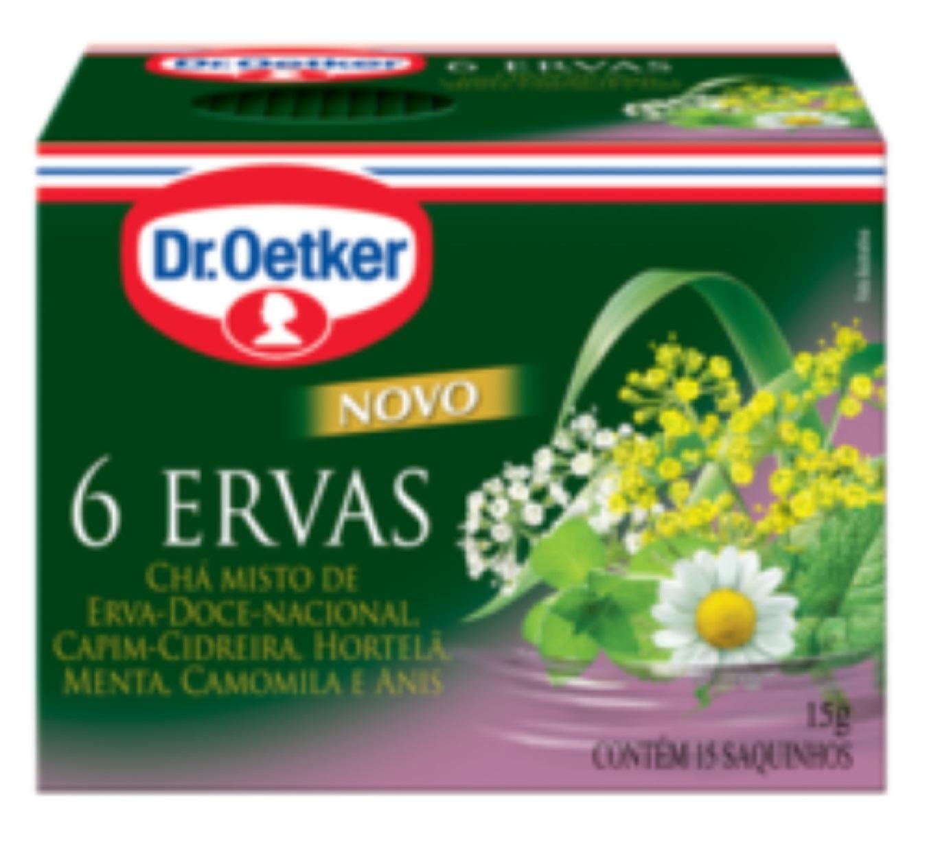 CHÁ SEIS ERVAS - DR OETCKER KIT 02 CAIXAS