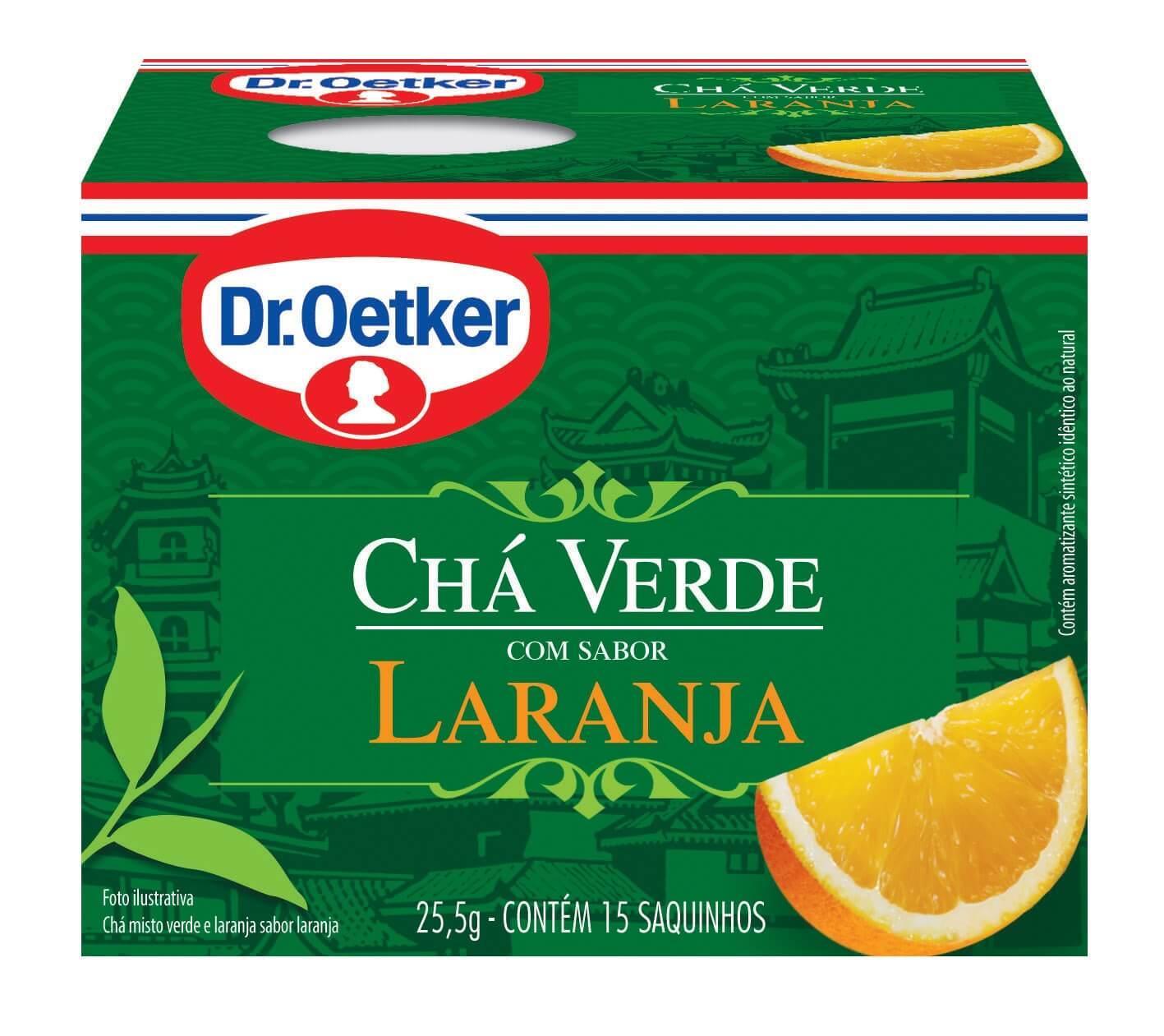 CHÁ VERDE COM LARANJA - DR. OETKER -  KIT COM 4 CAIXAS