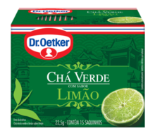 CHÁ VERDE COM LIMÃO DR. OETKER KIT COM 2 CAIXAS