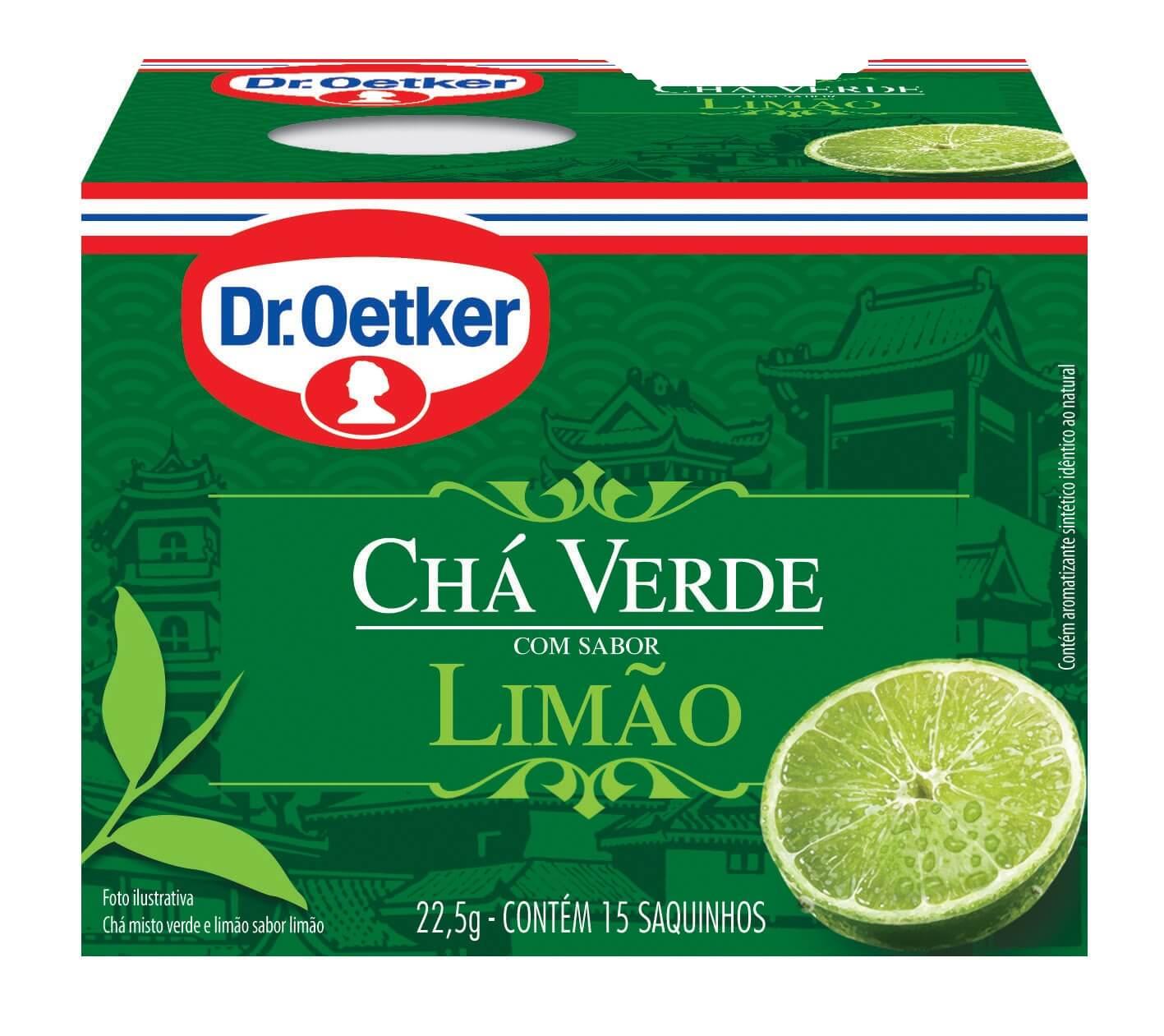 CHÁ VERDE COM LIMÃO - DR. OETKER -  KIT COM 4 CAIXAS