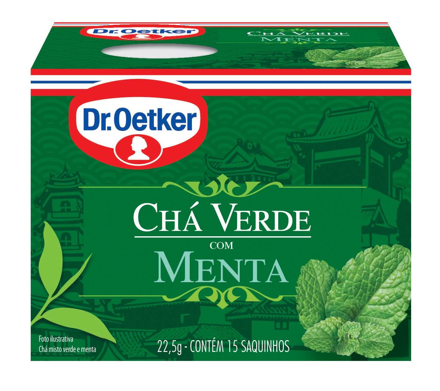 CHÁ VERDE COM MENTA - DR. OETKER -  KIT COM 4 CAIXAS