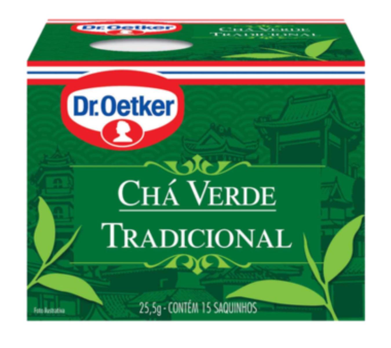 CHÁ VERDE COM MENTA DR. OETKER KIT COM 4 CAIXAS
