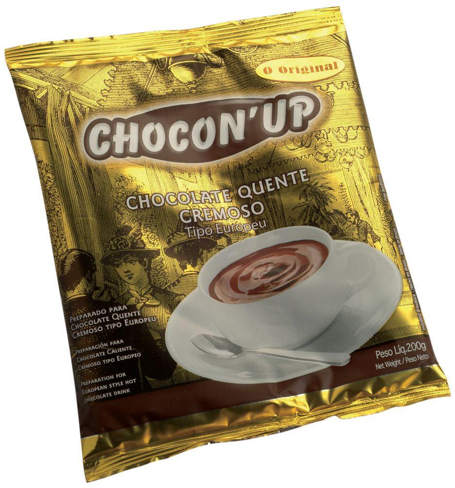 CHOCON' UP PÓ PARA CHOCOLATE QUENTE CAIXA COM 10 UNIDADES