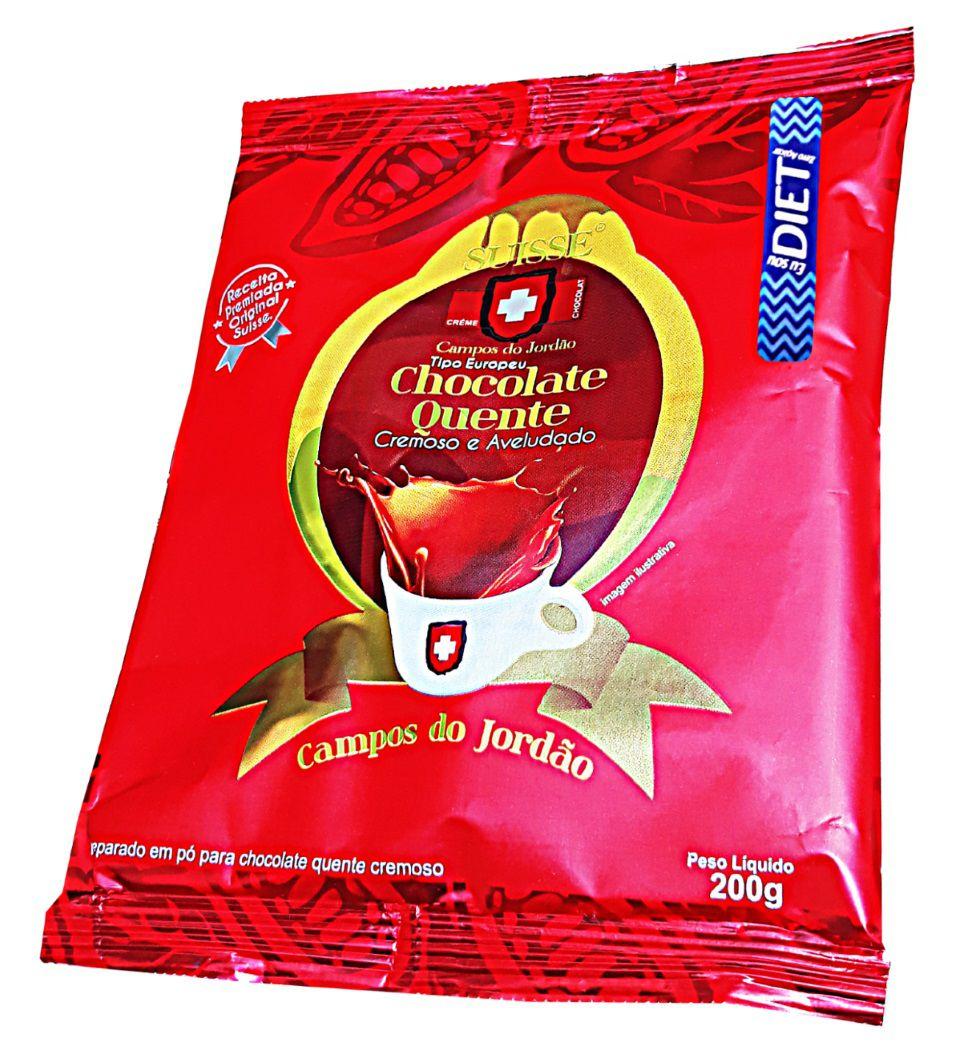 SUISSE CHOCOLATE QUENTE - DIET - KIT COM 5 UN 200 GR CADA