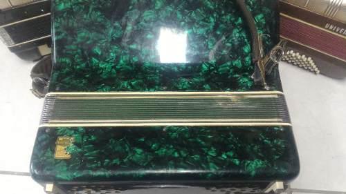 Acordeon Todeschini 80 Baixos Super 5 Selo Verde