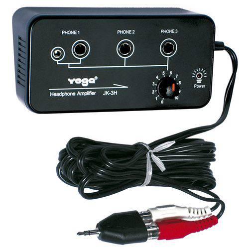 Amplificador de fone de ouvido 3 canais Yoga JK-3H