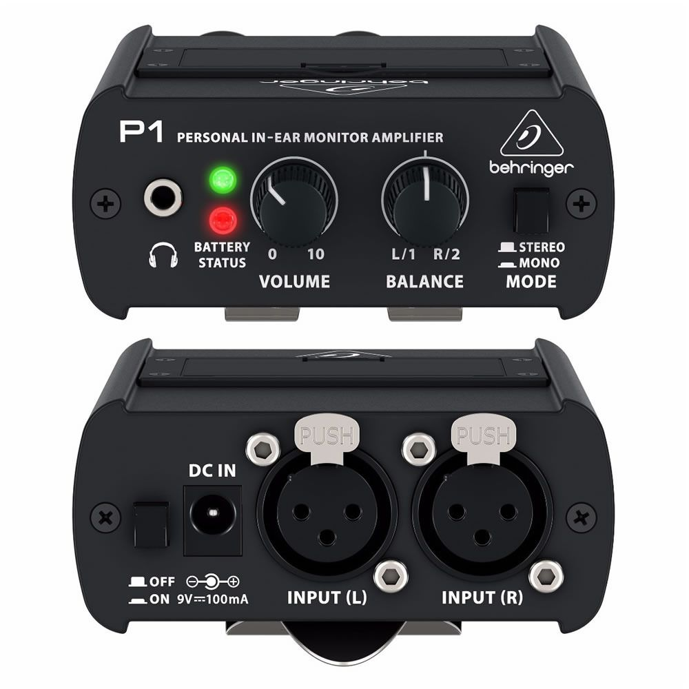 Amplificador Para Fone De Ouvido Pessoal Behringer Powerplay P1