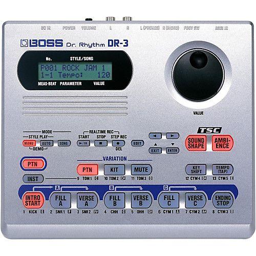 Bateria Eletrônica Digital Boss DR-3 Dr. Rhythm Portátil