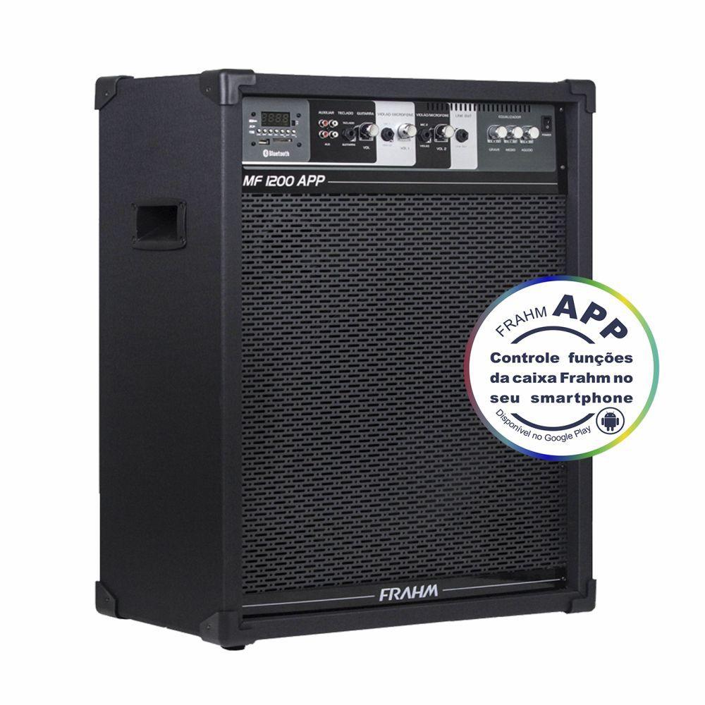 Caixa Frahm MF 1200 APP Multiuso 160W RMS FM SD USB Bluetooth