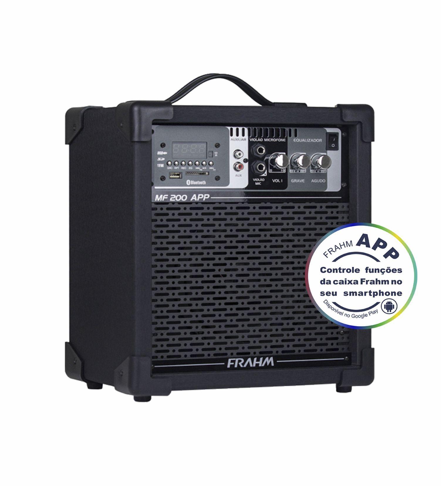 Caixa Frahm MF 200 APP Multiuso 60W RMS USB Bluetooth FM SD