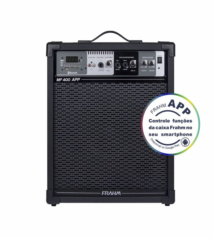 Caixa Frahm MF 400 APP Multiuso 80W RMS FM SD USB Bluetooth