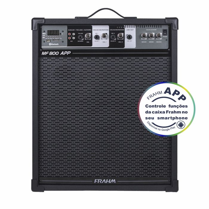 Caixa Frahm MF 800 APP Multiuso 120W RMS FM SD USB Bluetooth